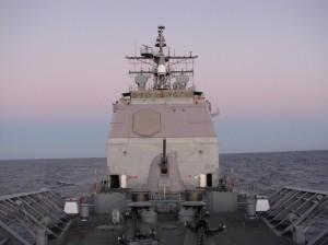 warship underway