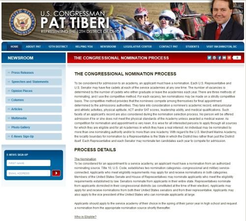 congressional nomination